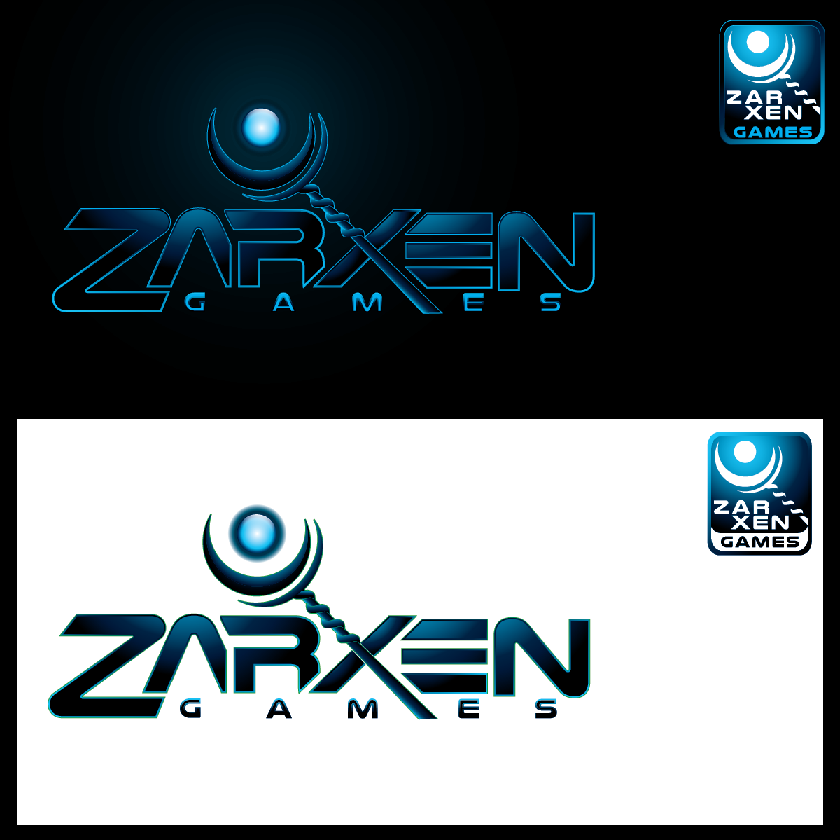 Create a logo for ZarXen Games, an independent game developer