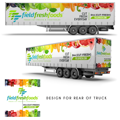 Field Fresh Foods Trailer Wrap