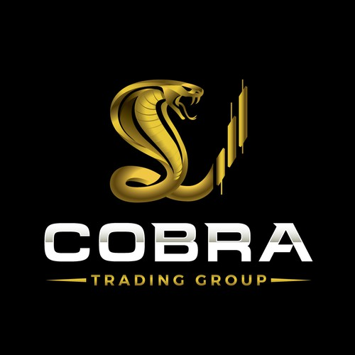 Bold Cobra Snake Logo for Trading Company