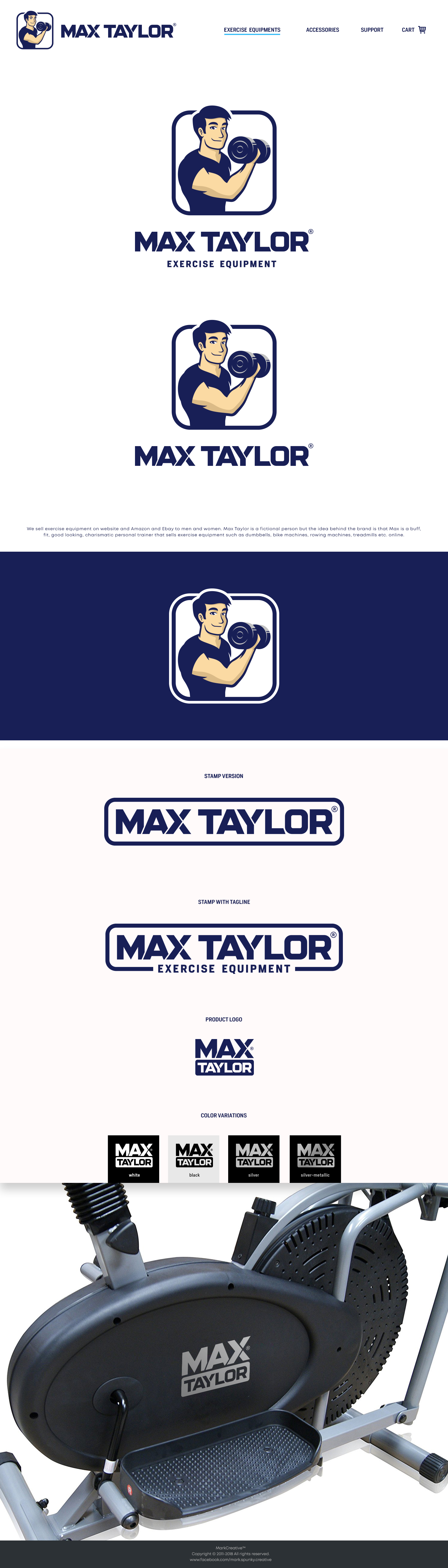 Design a logo for Max Taylor who sell exercise equipment