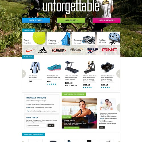 Guaranteed $2000 - Webstore design for new sports & leisure project - be part of defining new brand identity!