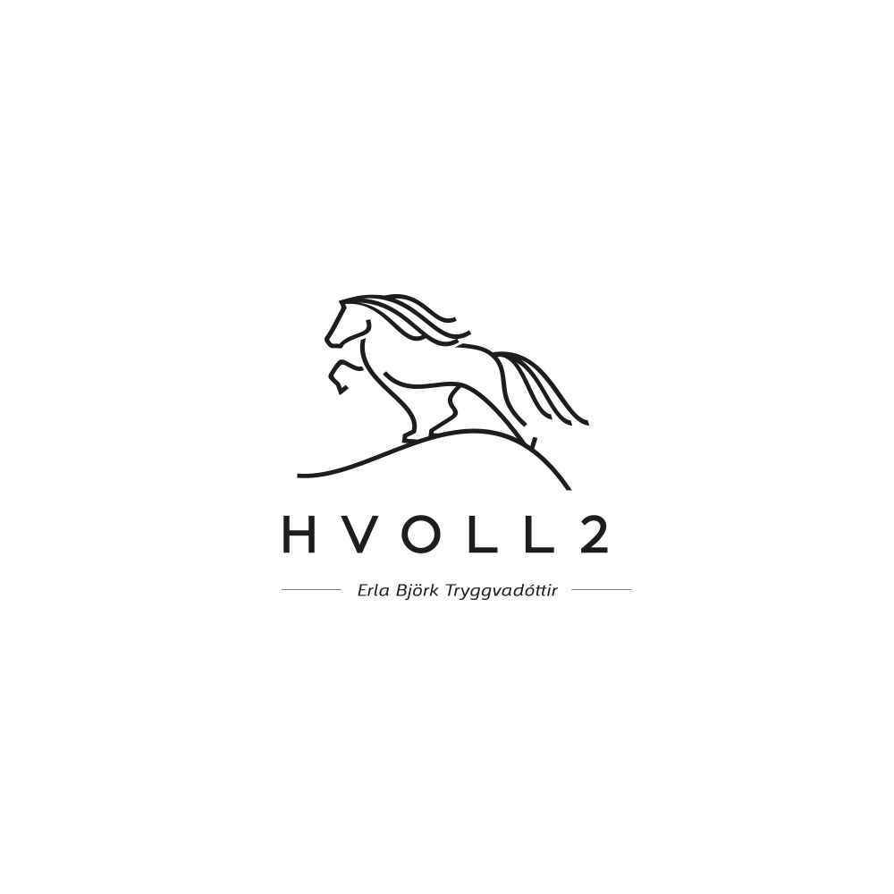 Logo for horse trainer in Iceland