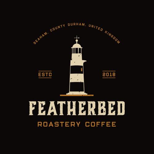 Vintage Logo Design Concept for Coffee Roaster