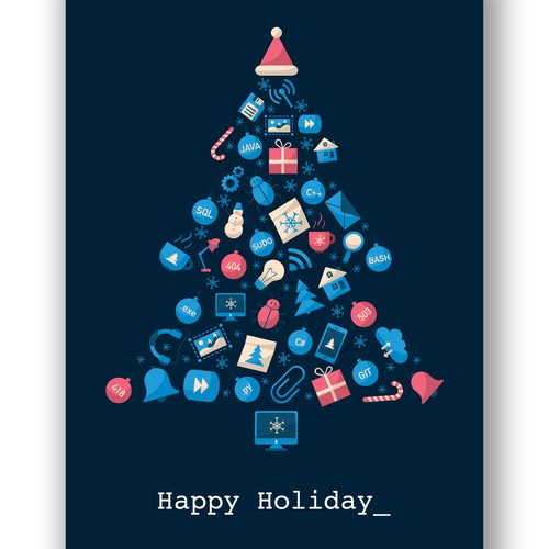 Christmas card for IT company