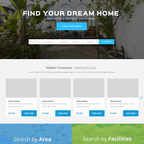 Website design for real estate company