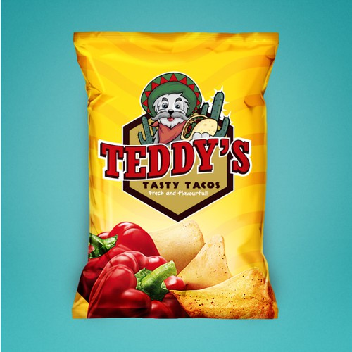 Logo design for Teddy's Tasty Tacos