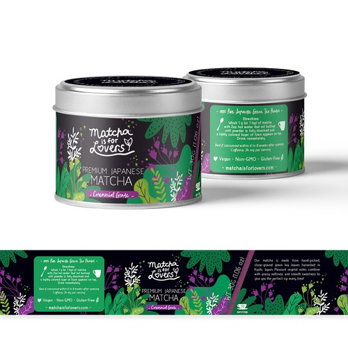Packaging design for Match tea