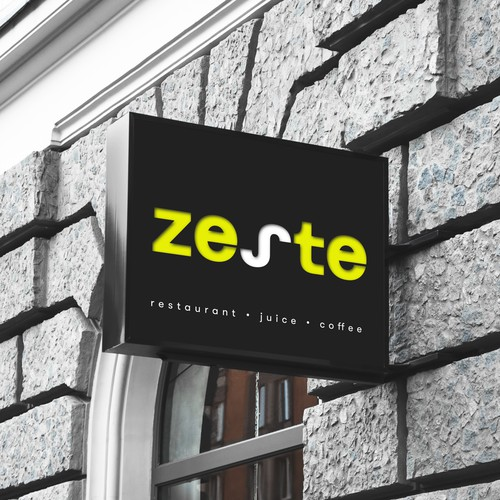 Zesty Plant based restaurant with full juice bar and coffee shop needs a FRESH clean hipster logo