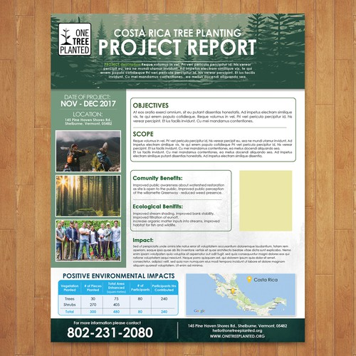 One Tree Planted Shovel Ready Project Report