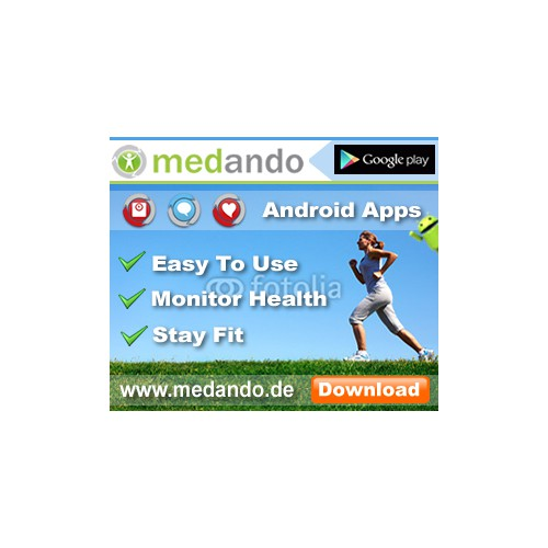 Web Banner Ad for Medando Apps
