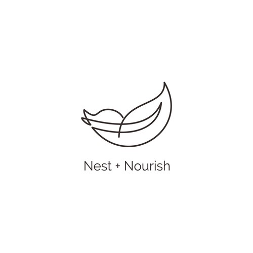 Logo design for Nest + Nourish