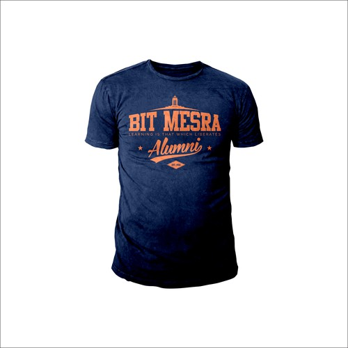 Design a classic University T-shirt