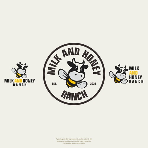 Logo concept of MILK AND HONEY RANCH