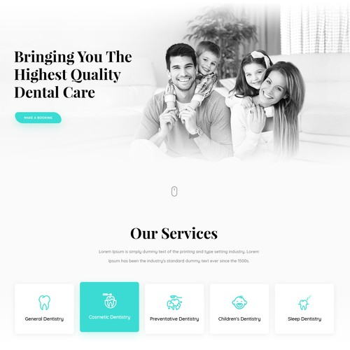 Dental care website design