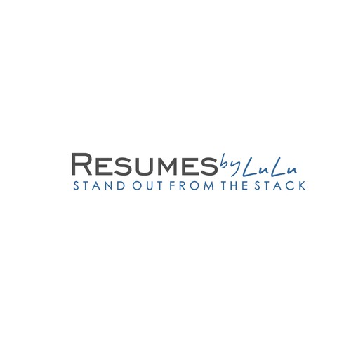Make the topic of Resumes interesting with a sophisticated logo with a unique twist.