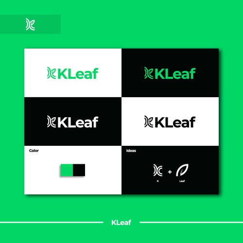 K + leaf logo by idStudio