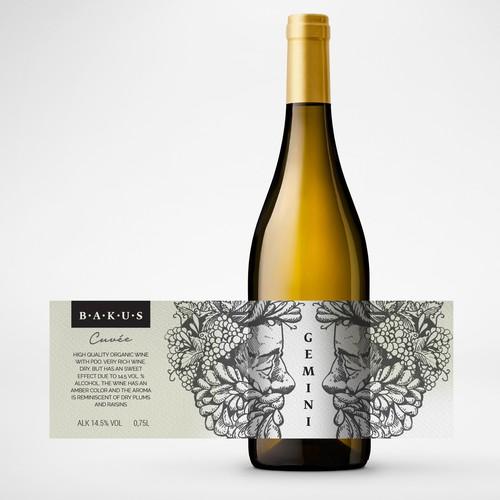 Gemini - Cuvée - Wine Label