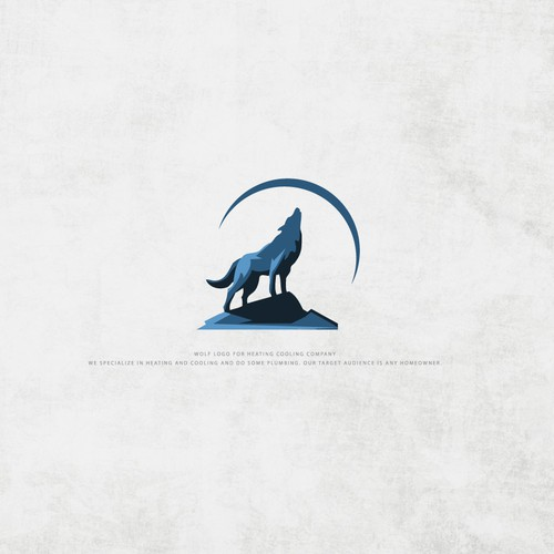 Wolf Logo for Heating Cooling Company