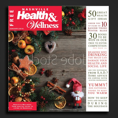 Magazine template for HEALTH & Wellness