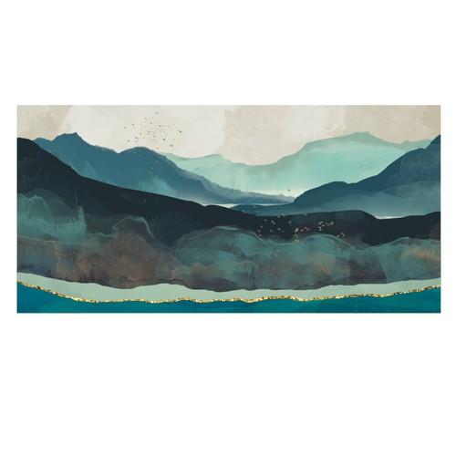 Watercolour mountains.