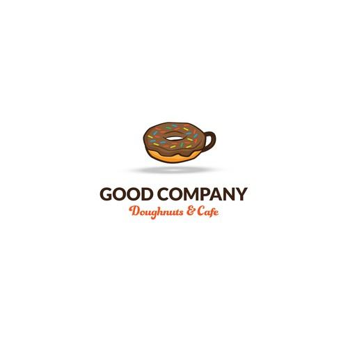 Logo for a doughnut and coffee shop