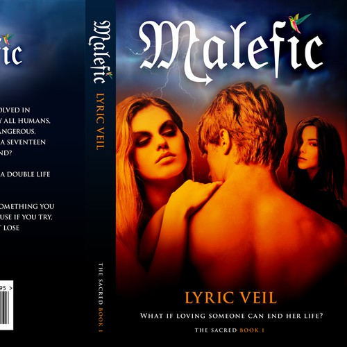 Create the next book or magazine cover for Lyric Veil
