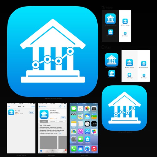 Design an iOS app icon that fits alongside our existing family of iOS apps