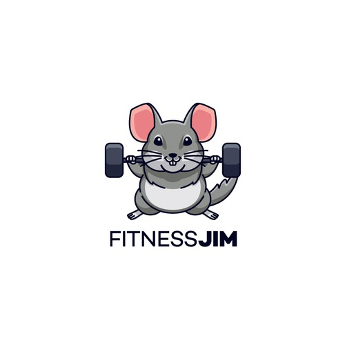 Mascot Logo for Fitness Jim