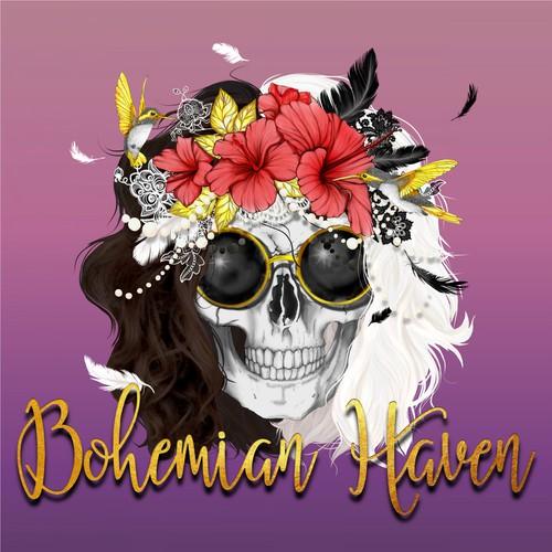 Bohemian styel Skull Logo