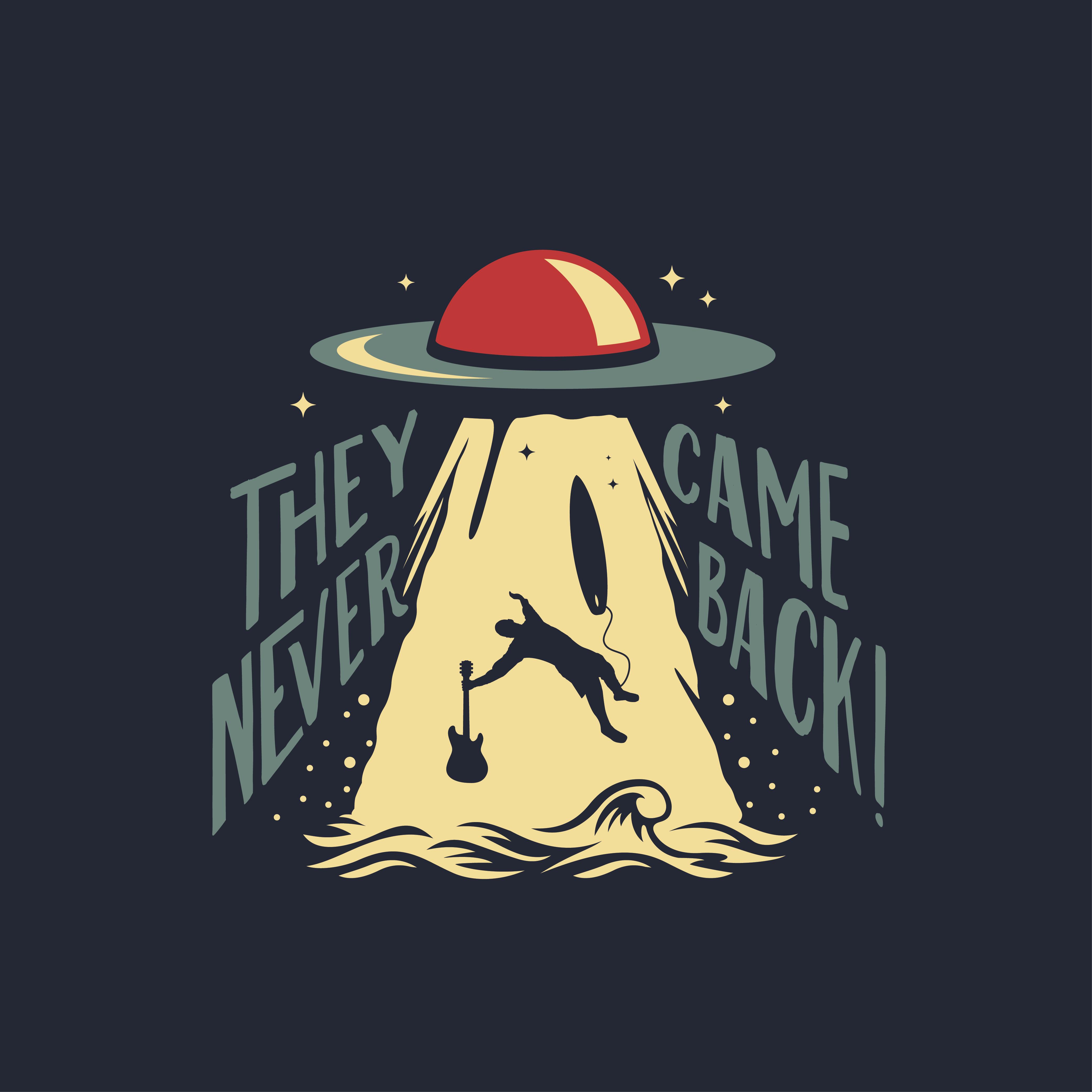 Surf band logo with a sci-fi twist