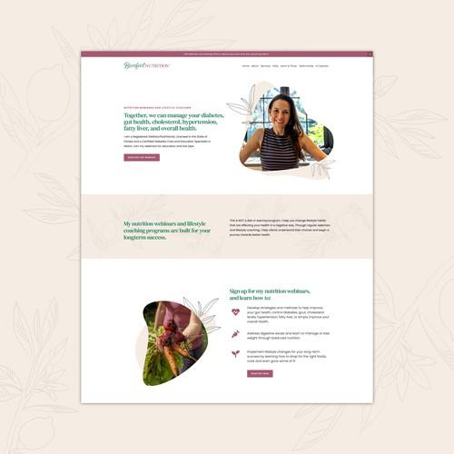 Squarespace Website for Nutritional Coach