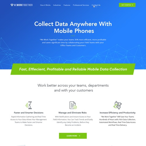 Mobile Data Collection Website Concept