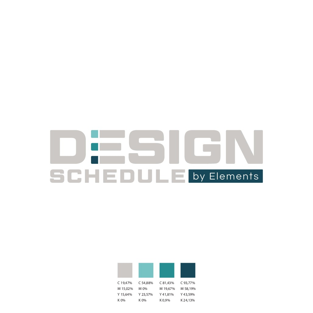 """Design a Logo/Brand pack for a disruptive technology - Elements """"Design Schedule""""."""
