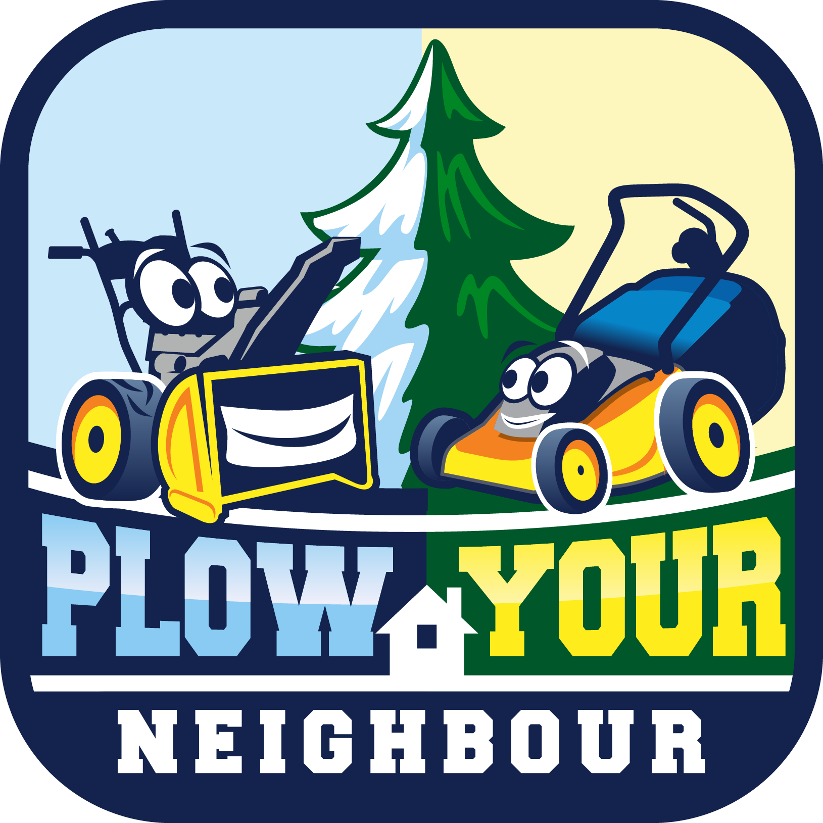 Create a fun logo for Plow Your Neighbour