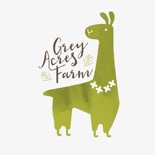 Cute Logo for Grey Acres Farm