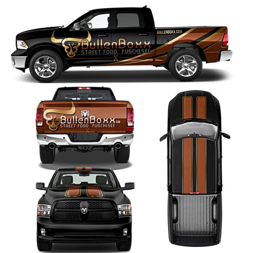 """Stunning Design for Beef selling Event-Truck """"BullenBoxx"""""""