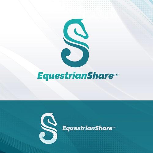 Modern logo for Equestrian Social Media platform
