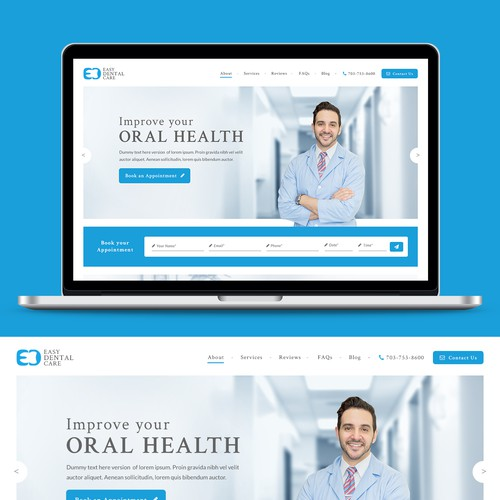 Elegant & Clean looking website for Dental care.