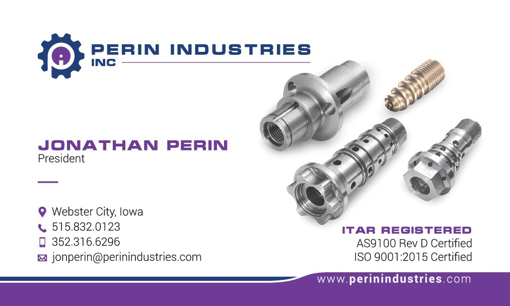 Perin Industries, Inc- Manufacturing Industry Business Card