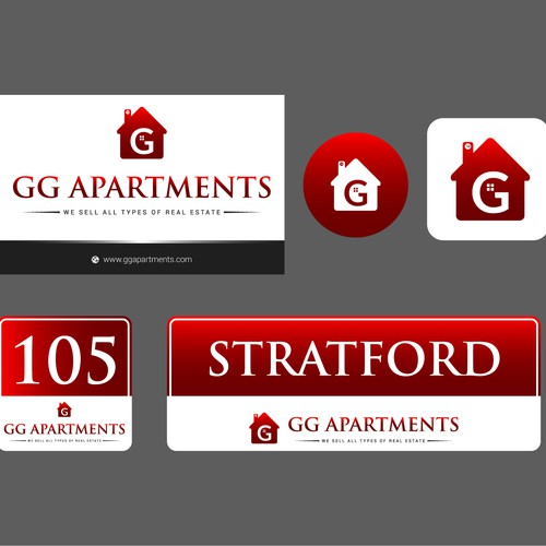 GG Apartments brand identity
