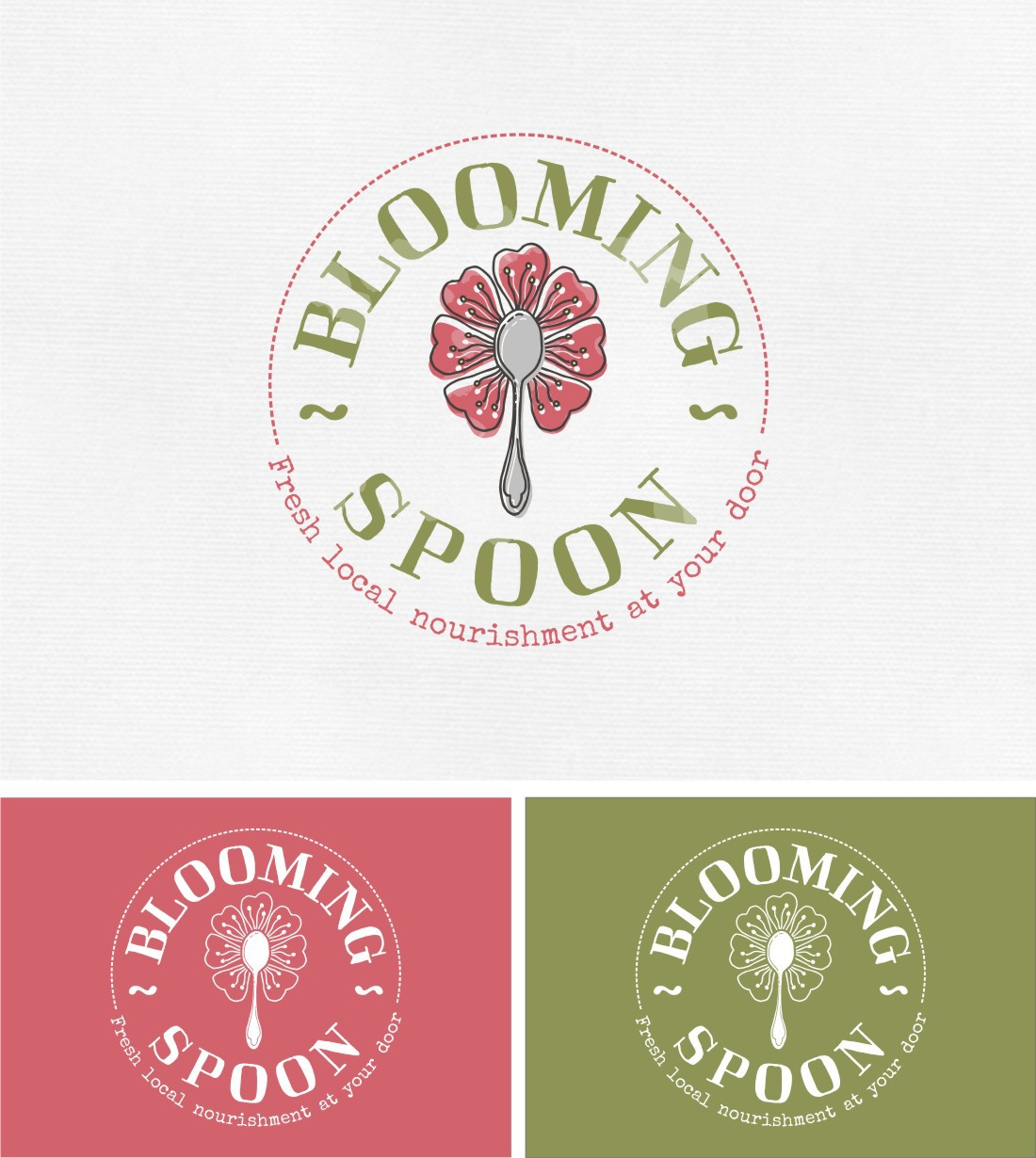 Create an beautiful and iconic logo for Blooming Spoon