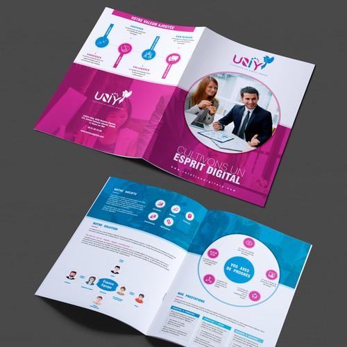 Design a creative brochure for UNIY