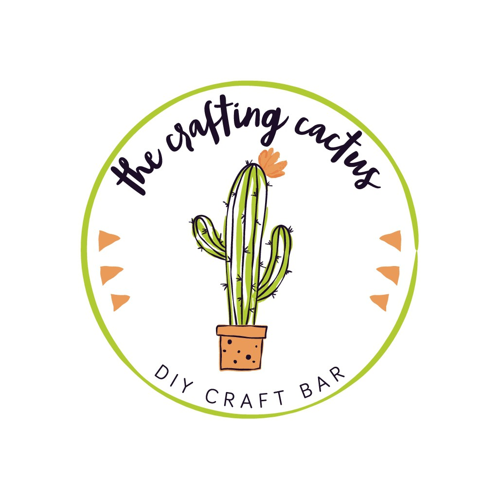 Create a unique, artsy logo for The Crafting Cactus DIY craft bar.