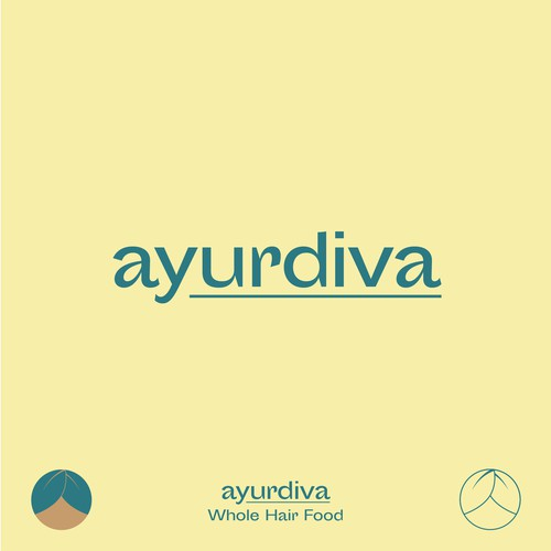 "Raw Logoconcept for a Natural Hair Care Line ""ayurdiva"""