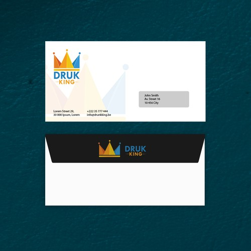Create enveloppe for printing business.