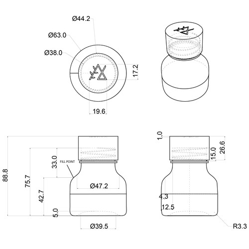 PET Bottle Design for Nurture Secrets