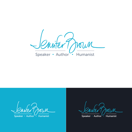 Typographic logo based on personal signature