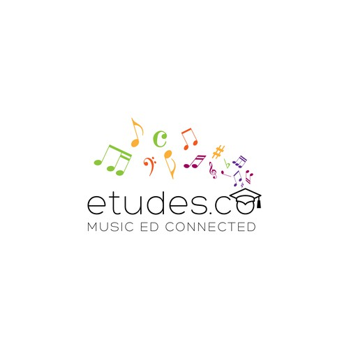 Music education platform logo design contest entry