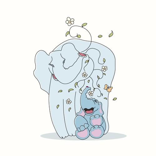 Adorable Baby Elephant