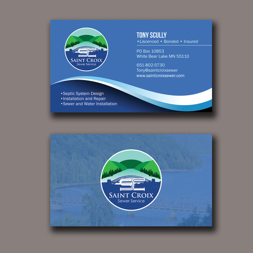 I need I need a great new design for my new business. My work is all done in the st croix river valley areaa great new design for my new business. My work is all done in the st croix river valley area